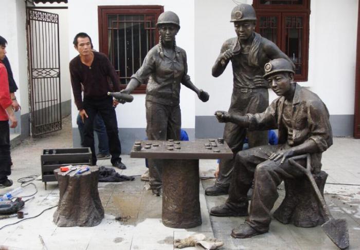 【城市雕塑】黄石铁山仿古街