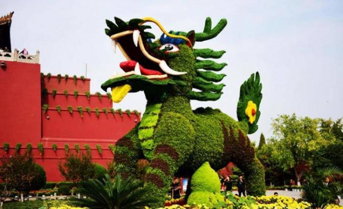【植物绿雕】麒麟绿雕制作