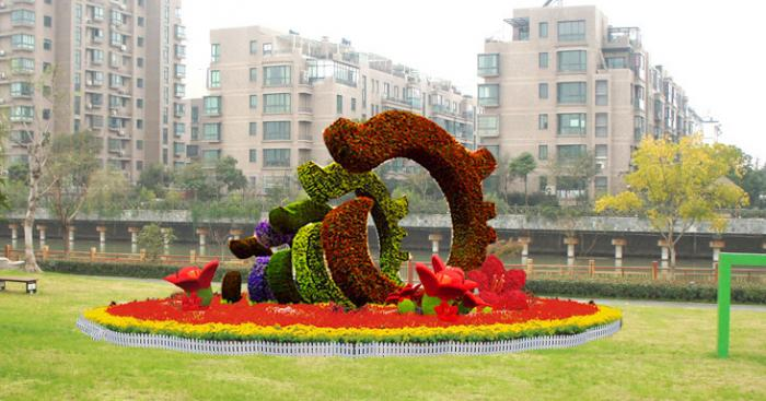 【植物綠雕】公園廣場綠雕展示