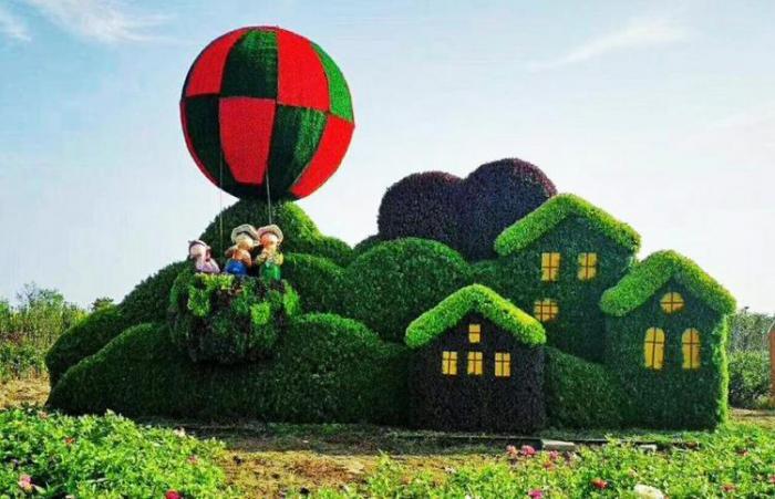 【植物綠雕】房子綠雕制作方案