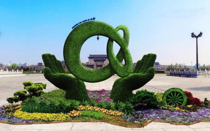 【植物绿雕】广场绿雕展示