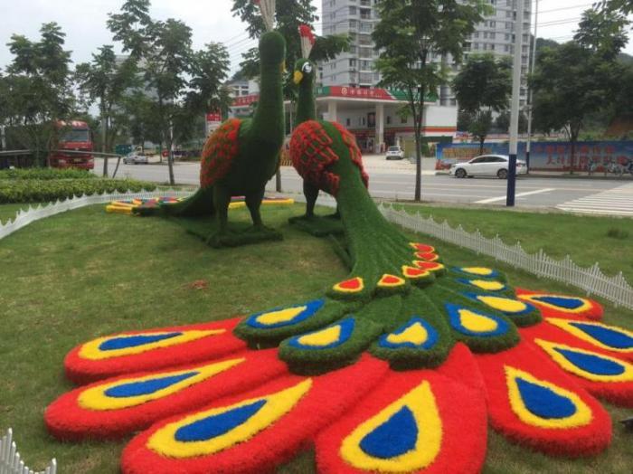 【植物绿雕】商业广场绿雕展示