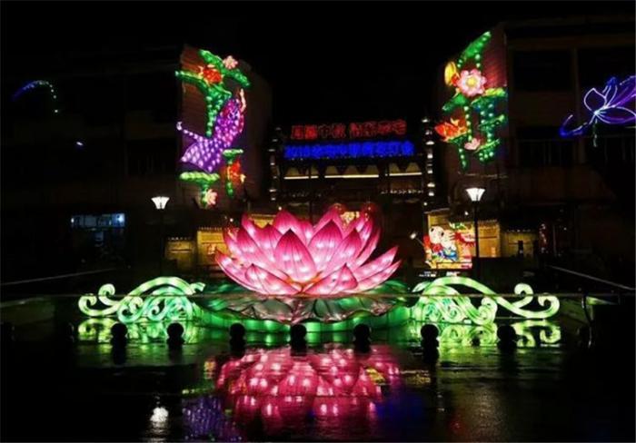 【花燈制作】浙江東陽城李宅中鞦荷花燈